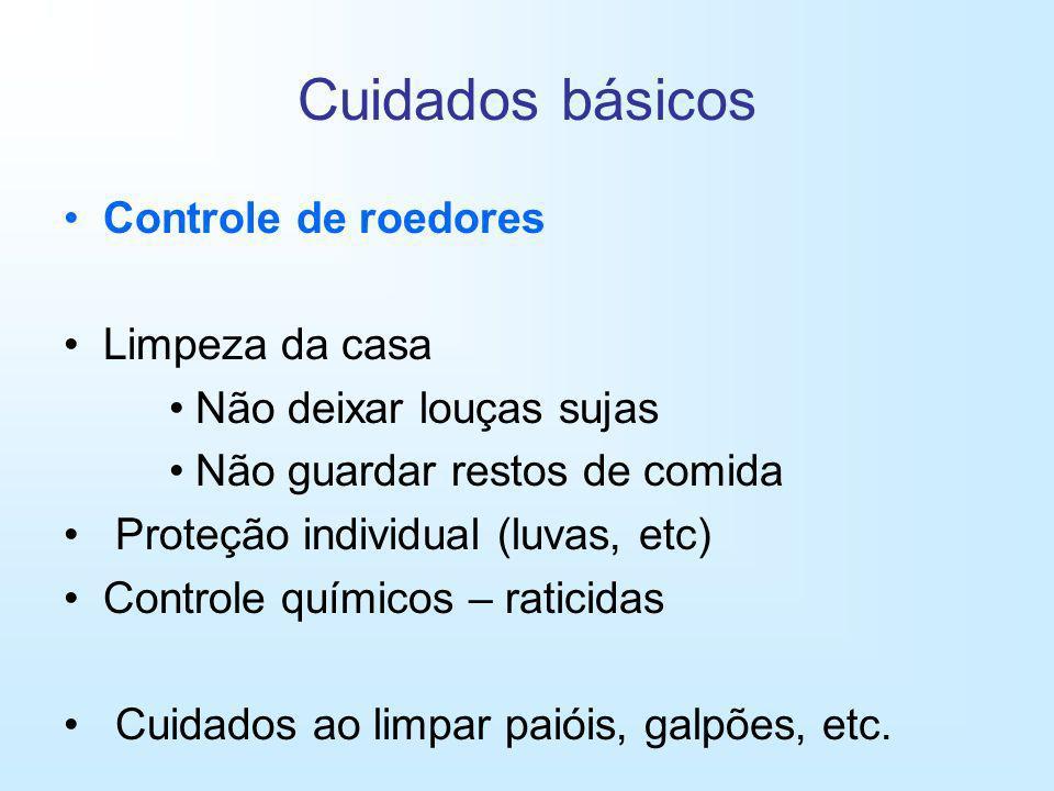 Cuidados básicos Controle de roedores Limpeza da casa