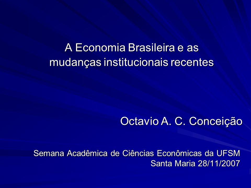 Semana Acadêmica de Ciências Econômicas da UFSM Santa Maria 28/11/2007