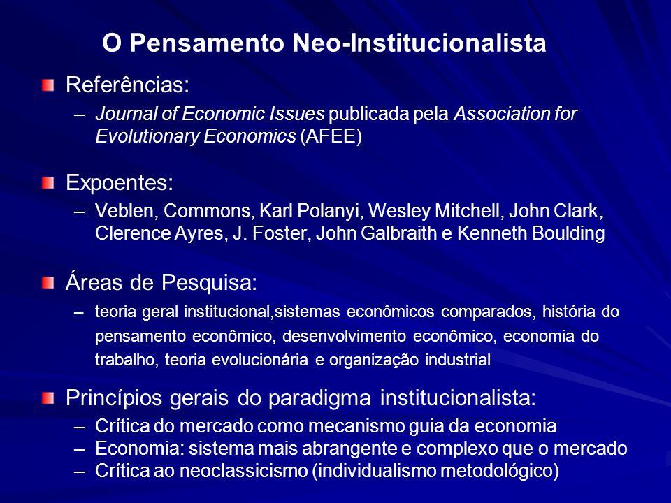 O Pensamento Neo-Institucionalista