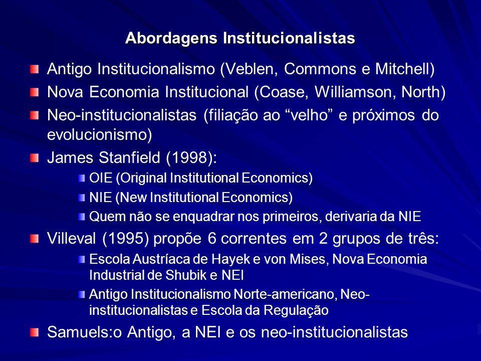 Abordagens Institucionalistas