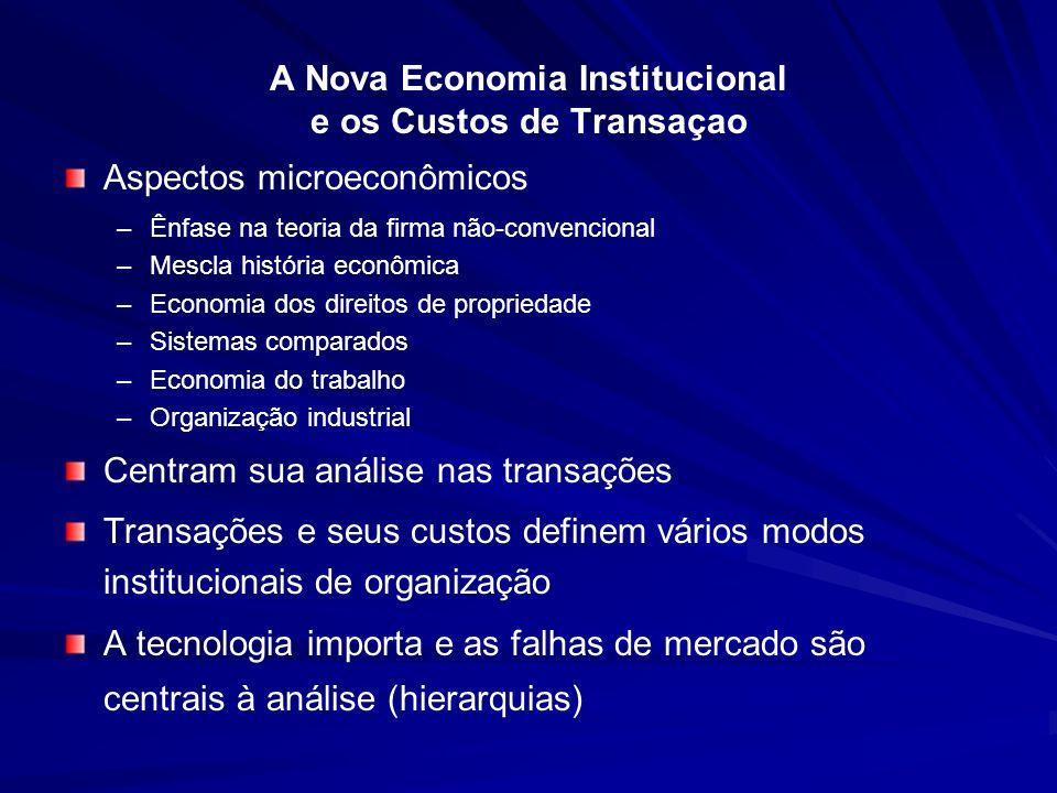A Nova Economia Institucional e os Custos de Transaçao