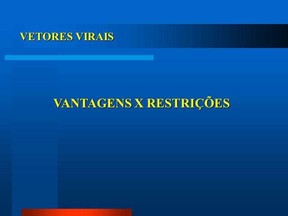 VANTAGENS X RESTRIÇÕES