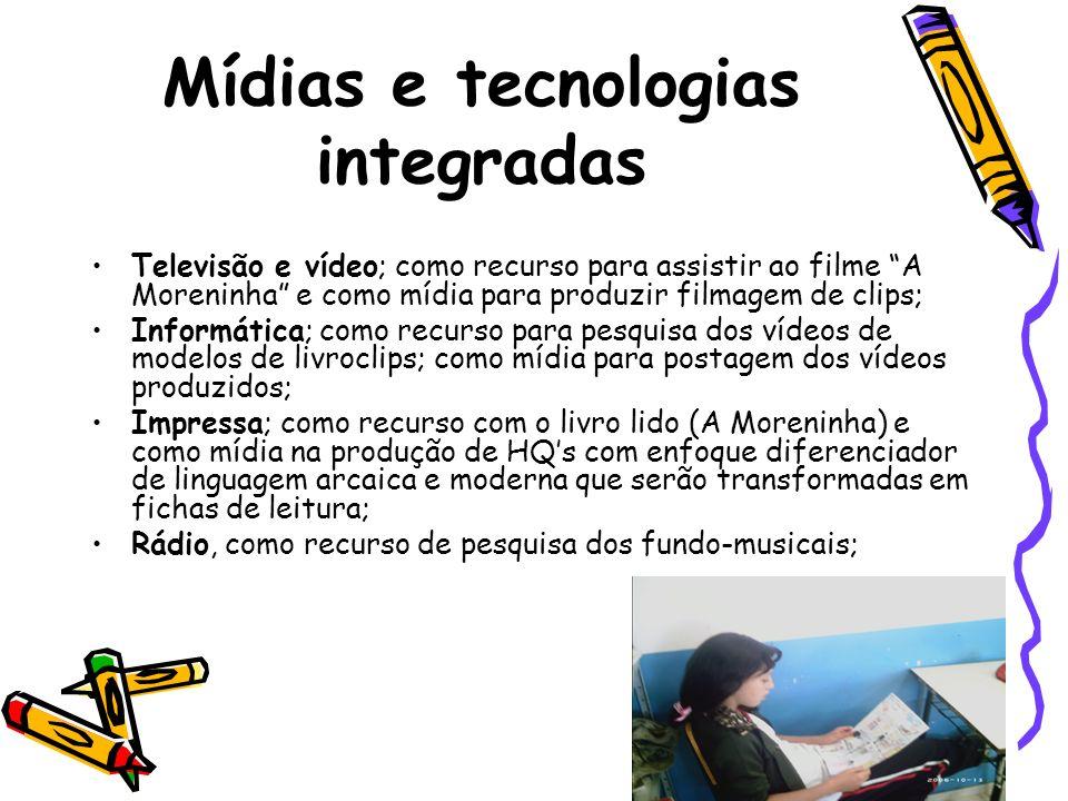 Mídias e tecnologias integradas