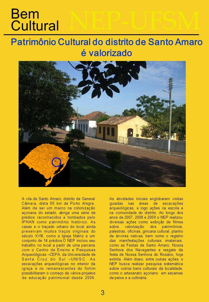 Patrimônio Cultural do distrito de Santo Amaro é valorizado
