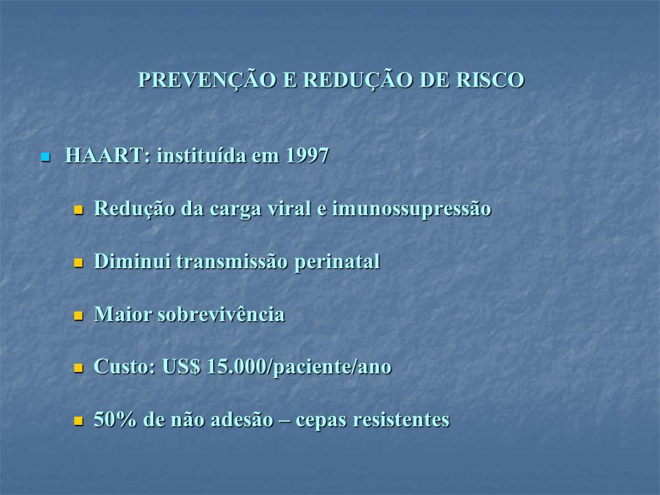 PREVENÇÃO E REDUÇÃO DE RISCO