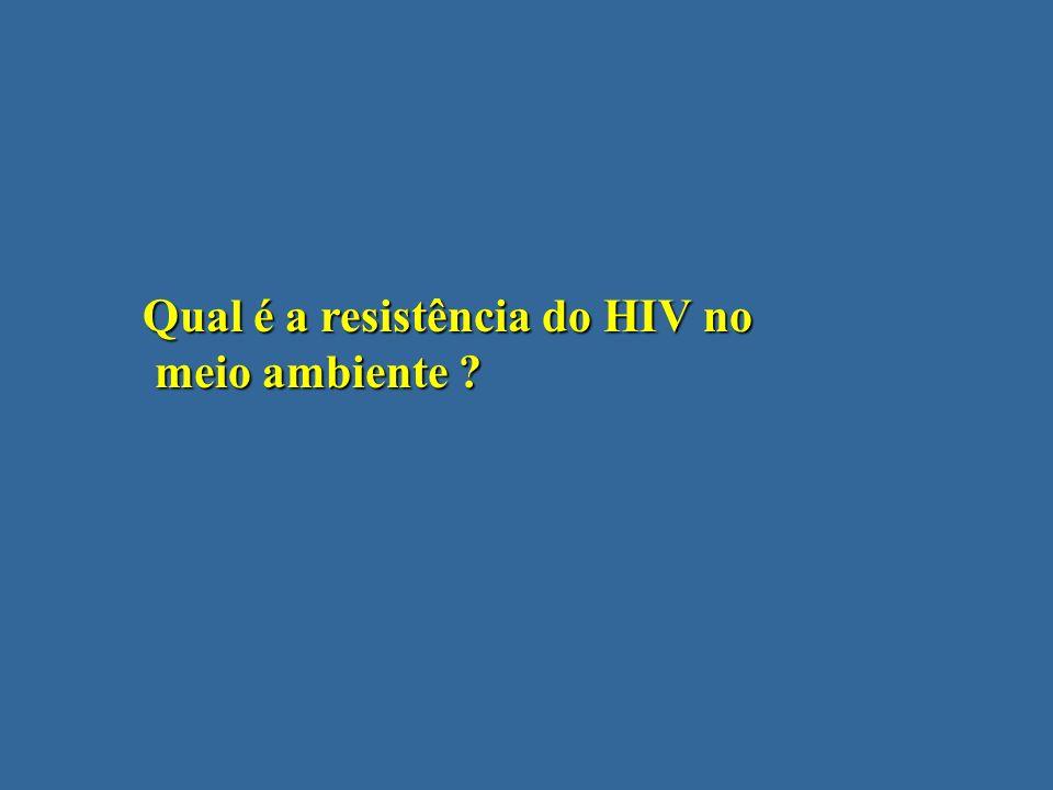 Qual é a resistência do HIV no