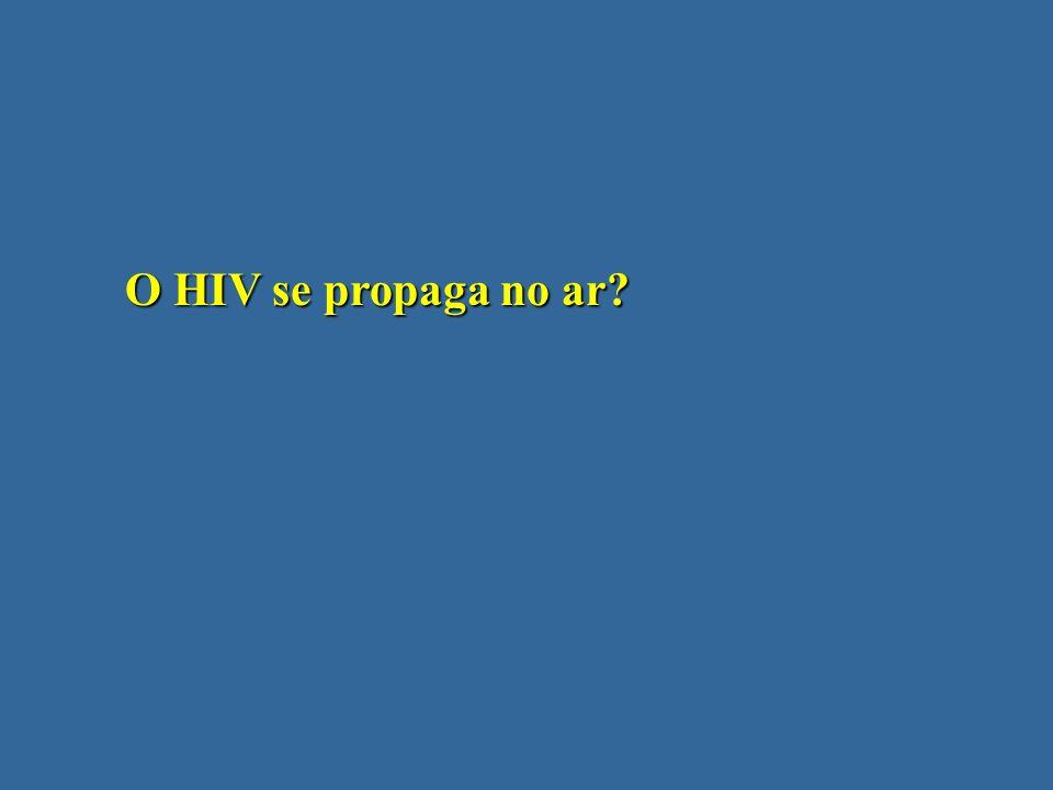 O HIV se propaga no ar