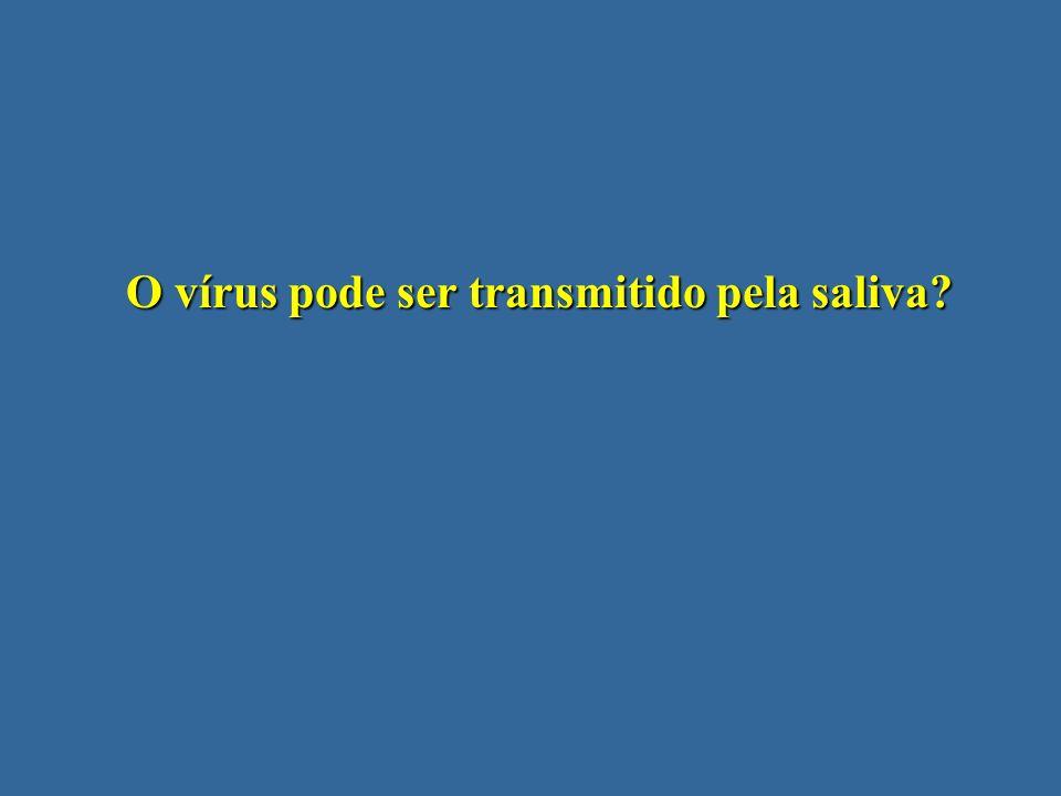 O vírus pode ser transmitido pela saliva