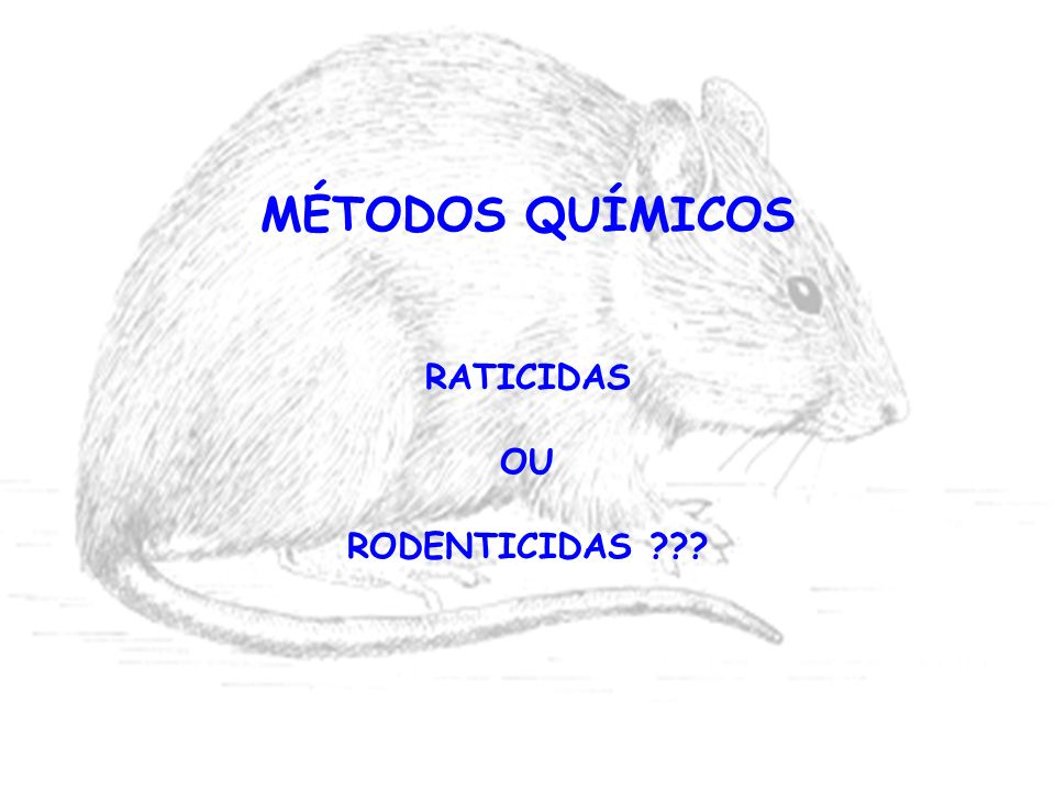 MÉTODOS QUÍMICOS RATICIDAS OU RODENTICIDAS