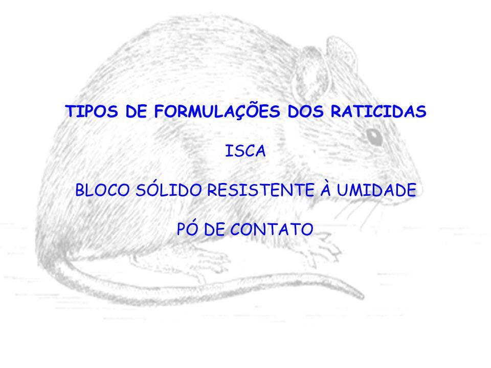 TIPOS DE FORMULAÇÕES DOS RATICIDAS