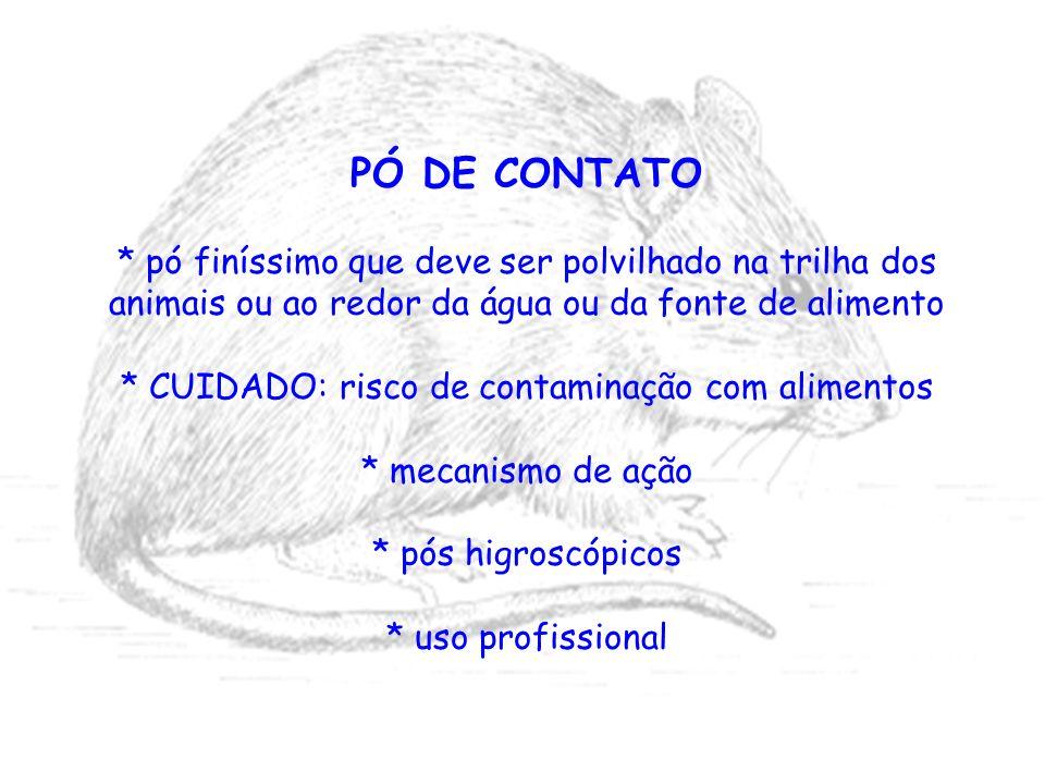 * CUIDADO: risco de contaminação com alimentos