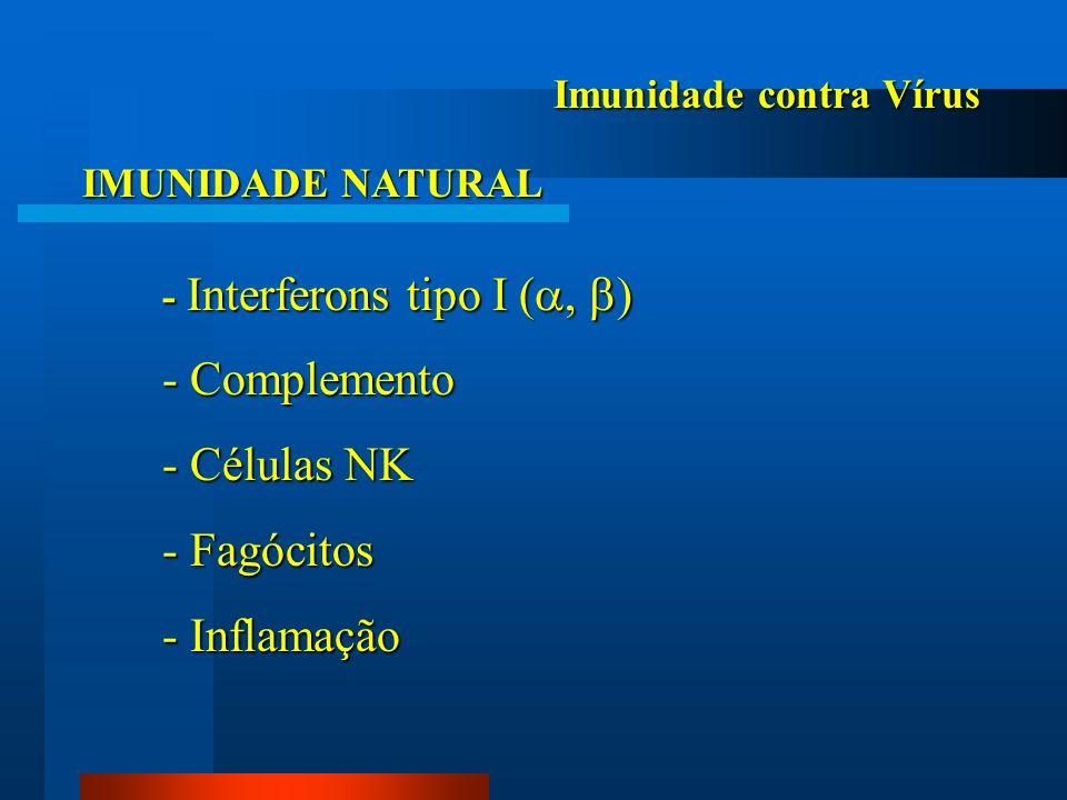 - Complemento - Células NK - Fagócitos - Inflamação