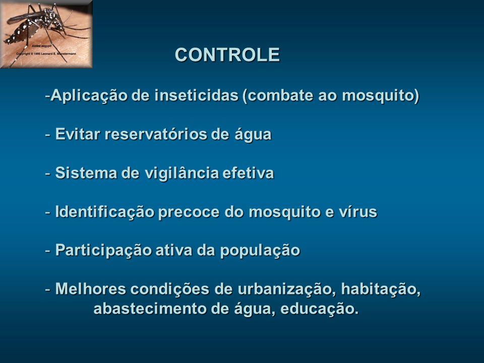 CONTROLE Aplicação de inseticidas (combate ao mosquito)