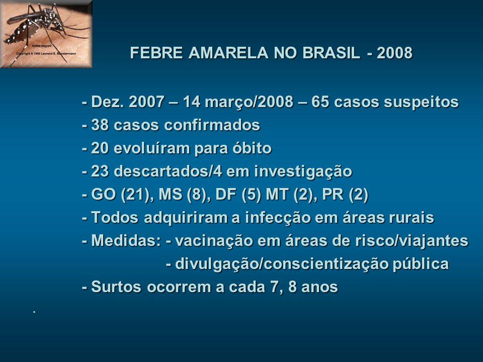 FEBRE AMARELA NO BRASIL - 2008
