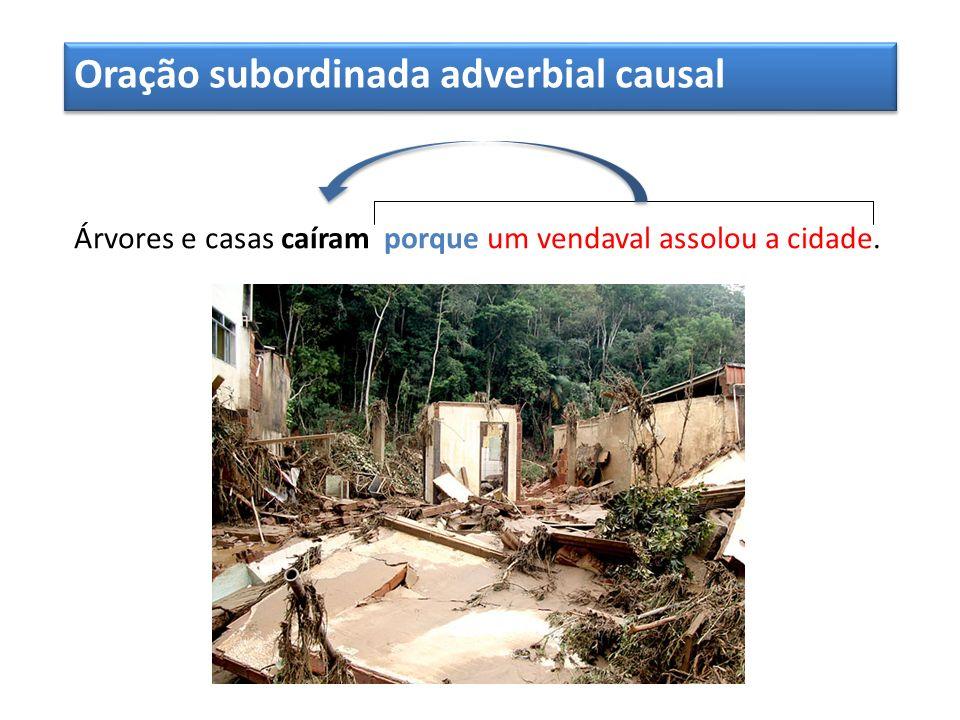 Oração subordinada adverbial causal