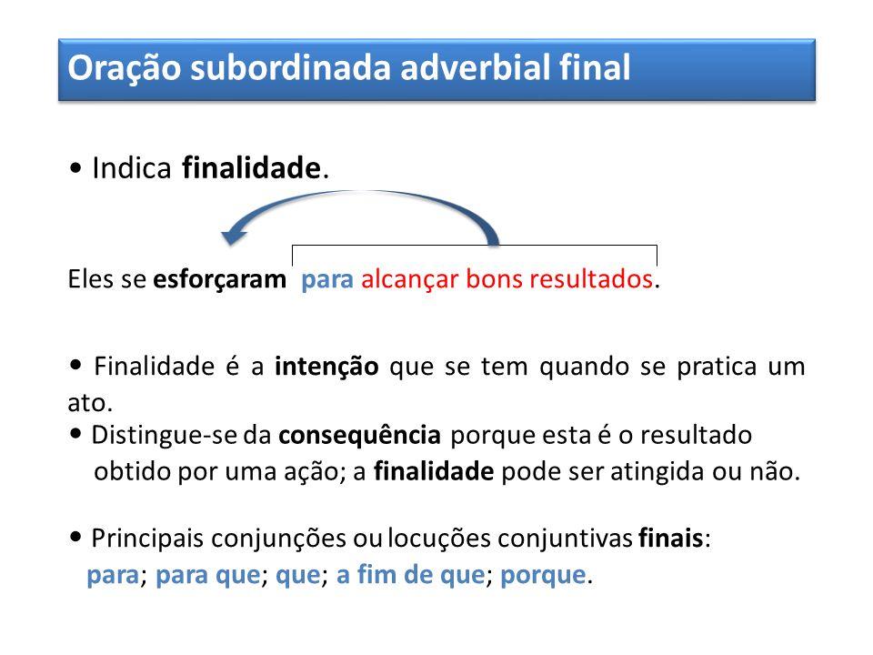 Oração subordinada adverbial final