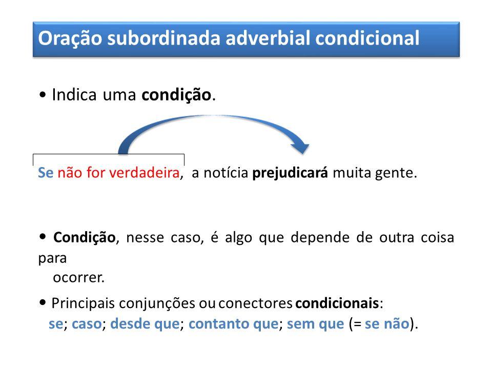 Oração subordinada adverbial condicional