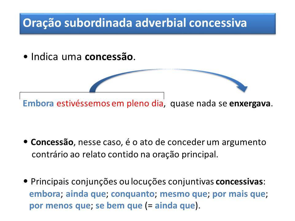 Oração subordinada adverbial concessiva
