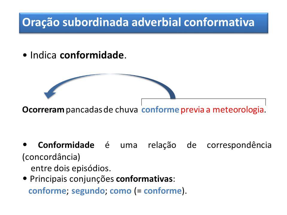Oração subordinada adverbial conformativa