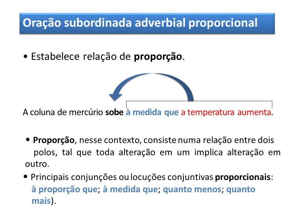 Oração subordinada adverbial proporcional