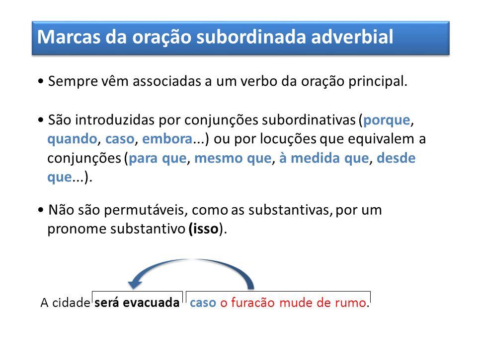 Marcas da oração subordinada adverbial