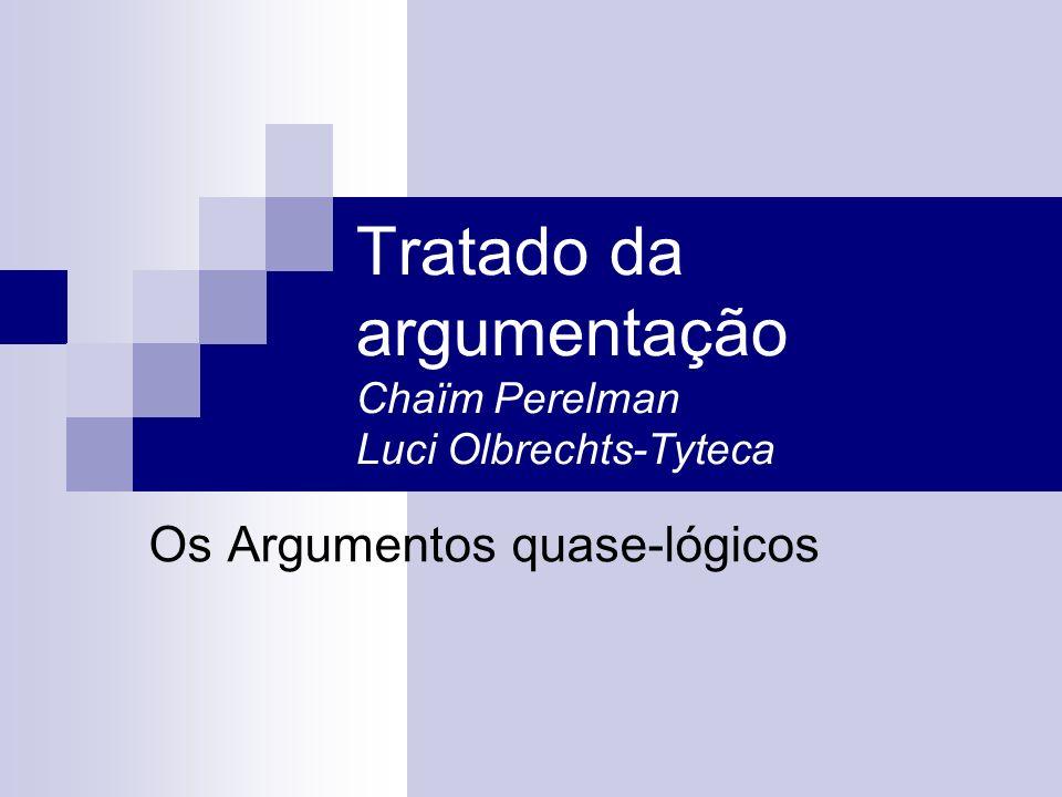 Tratado da argumentação Chaïm Perelman Luci Olbrechts-Tyteca