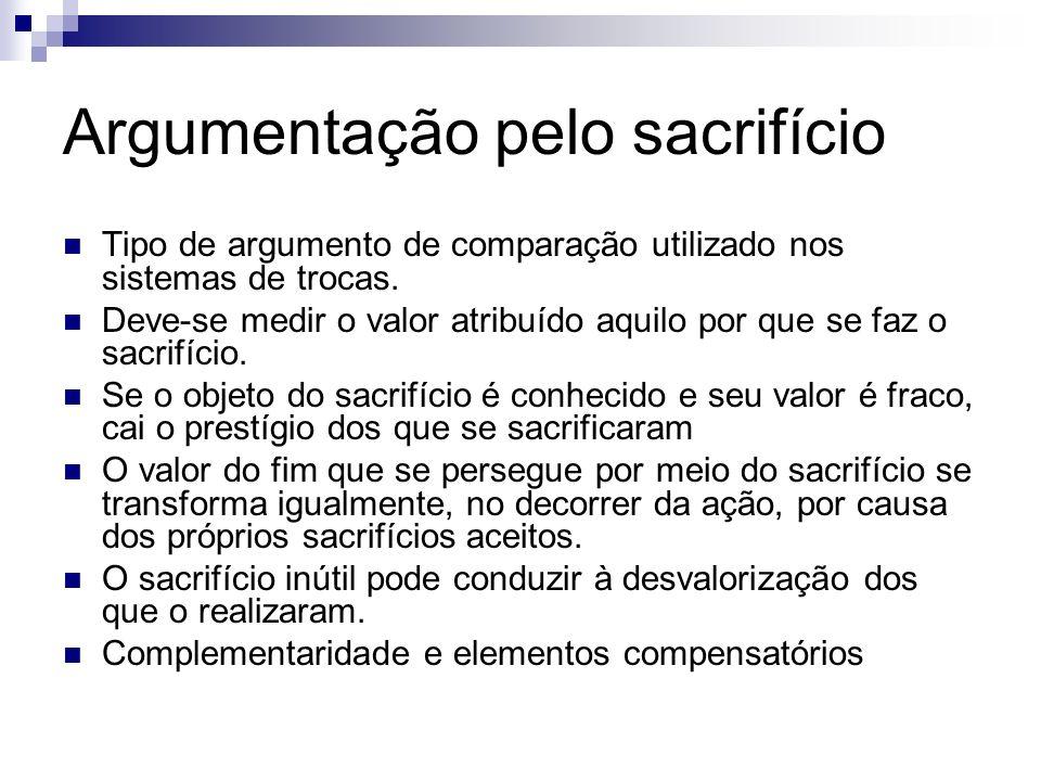 Argumentação pelo sacrifício