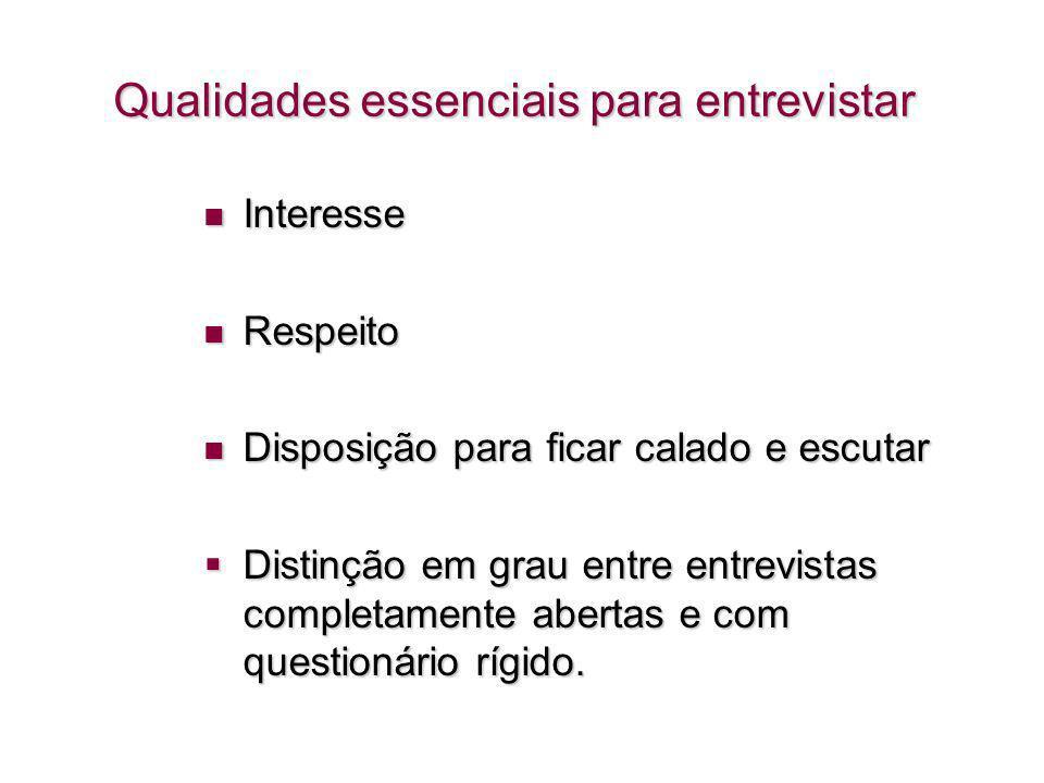 Qualidades essenciais para entrevistar