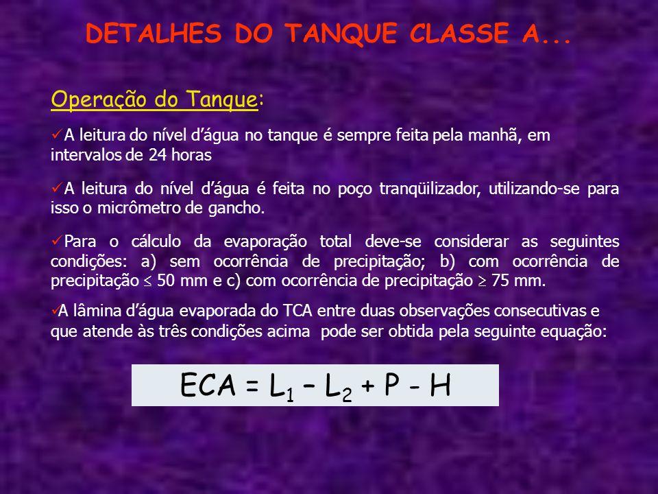 DETALHES DO TANQUE CLASSE A...
