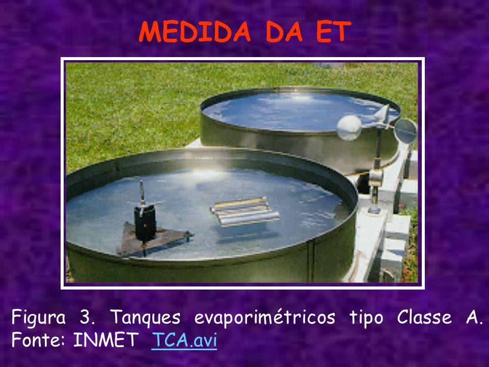 MEDIDA DA ET Figura 3. Tanques evaporimétricos tipo Classe A. Fonte: INMET TCA.avi