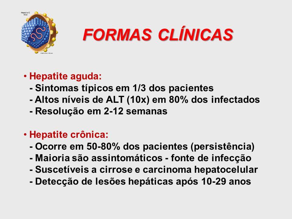 FORMAS CLÍNICAS Hepatite aguda:
