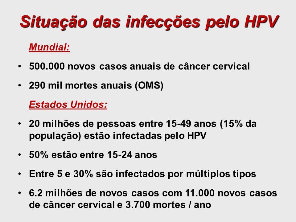 Situação das infecções pelo HPV