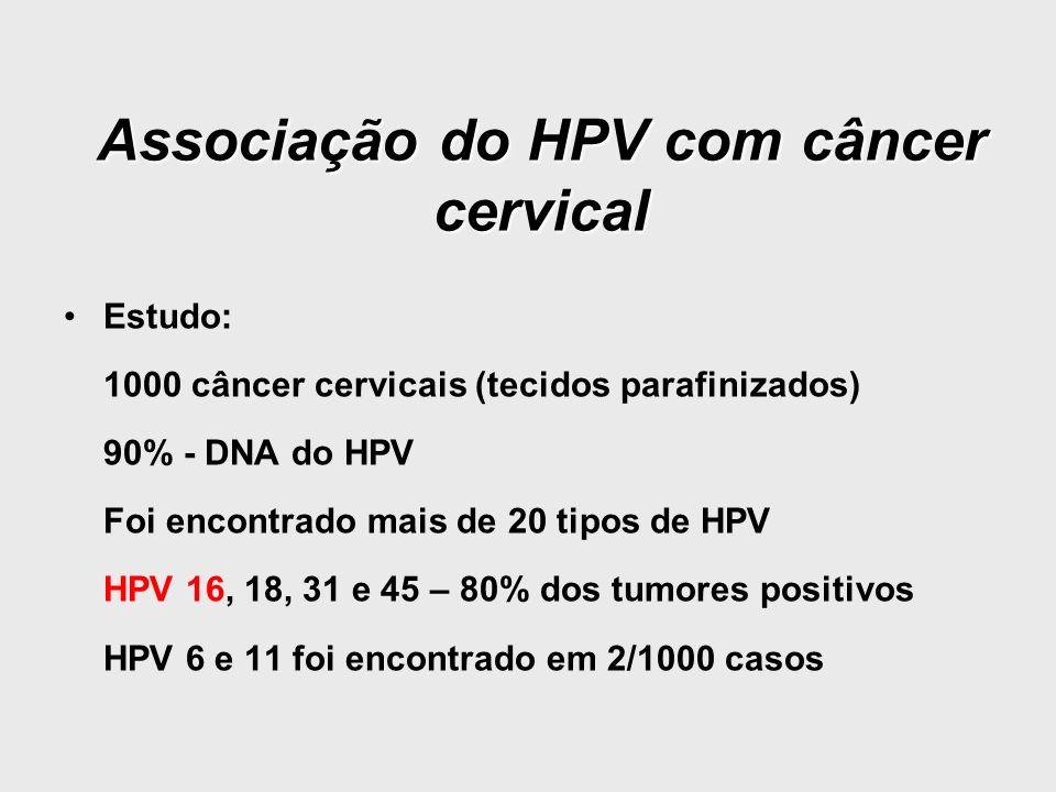 Associação do HPV com câncer cervical