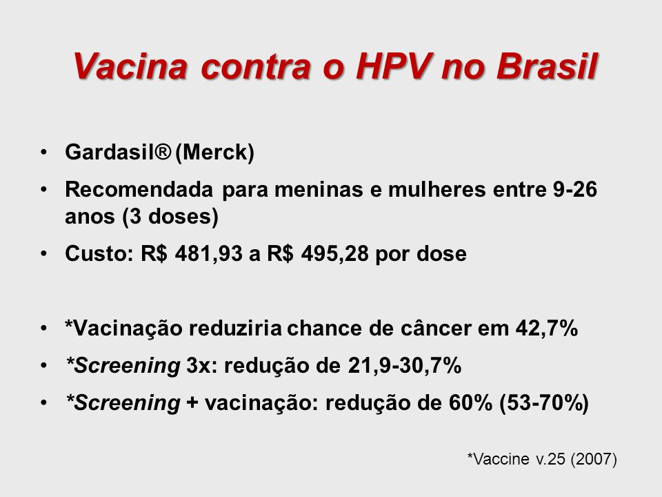 Vacina contra o HPV no Brasil