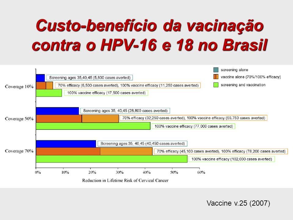 Custo-benefício da vacinação contra o HPV-16 e 18 no Brasil