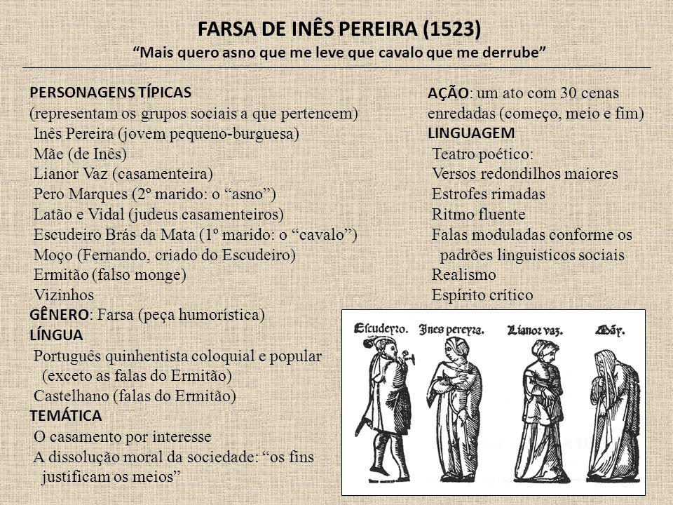 FARSA DE INÊS PEREIRA (1523)