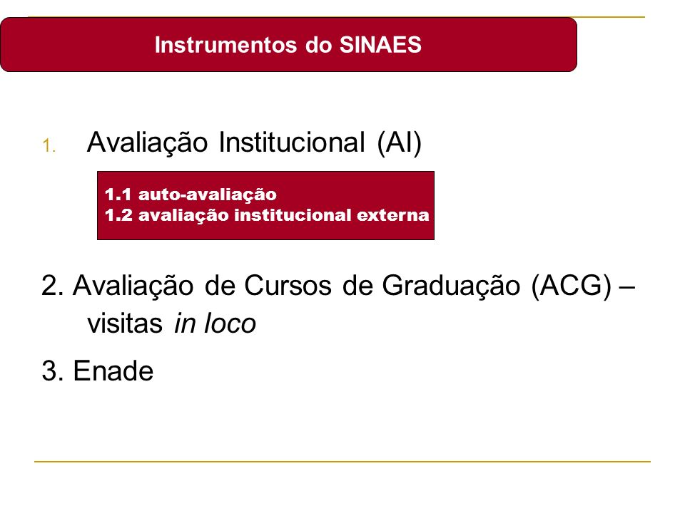 Instrumentos do SINAES