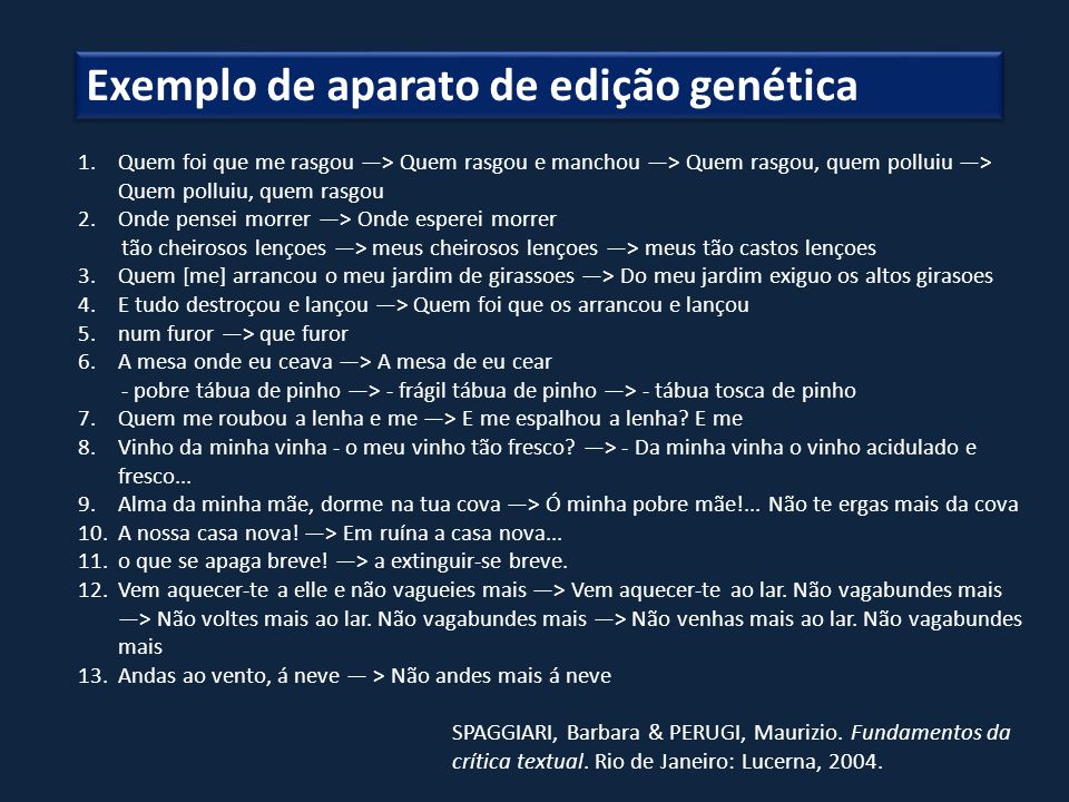 Exemplo de aparato de edição genética