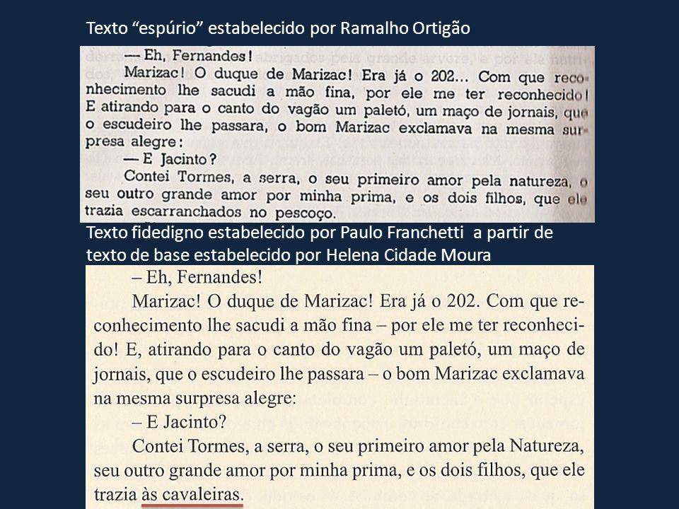 Texto espúrio estabelecido por Ramalho Ortigão