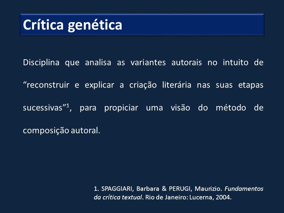 Crítica genética