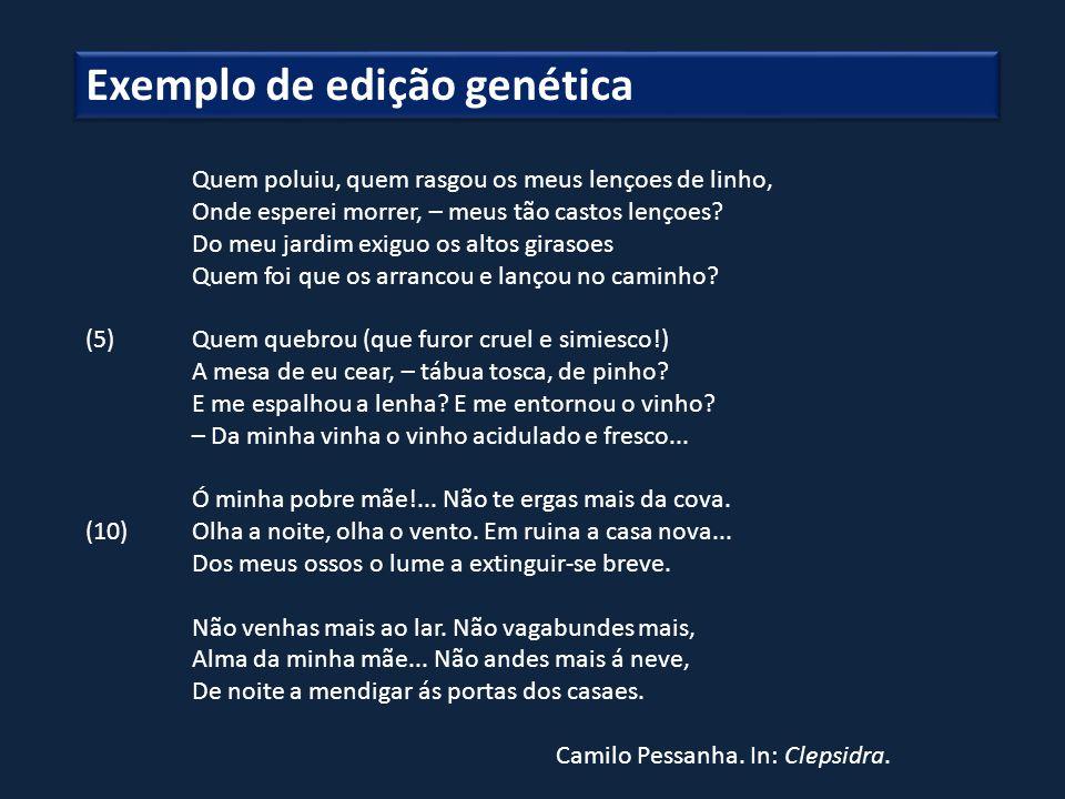 Exemplo de edição genética