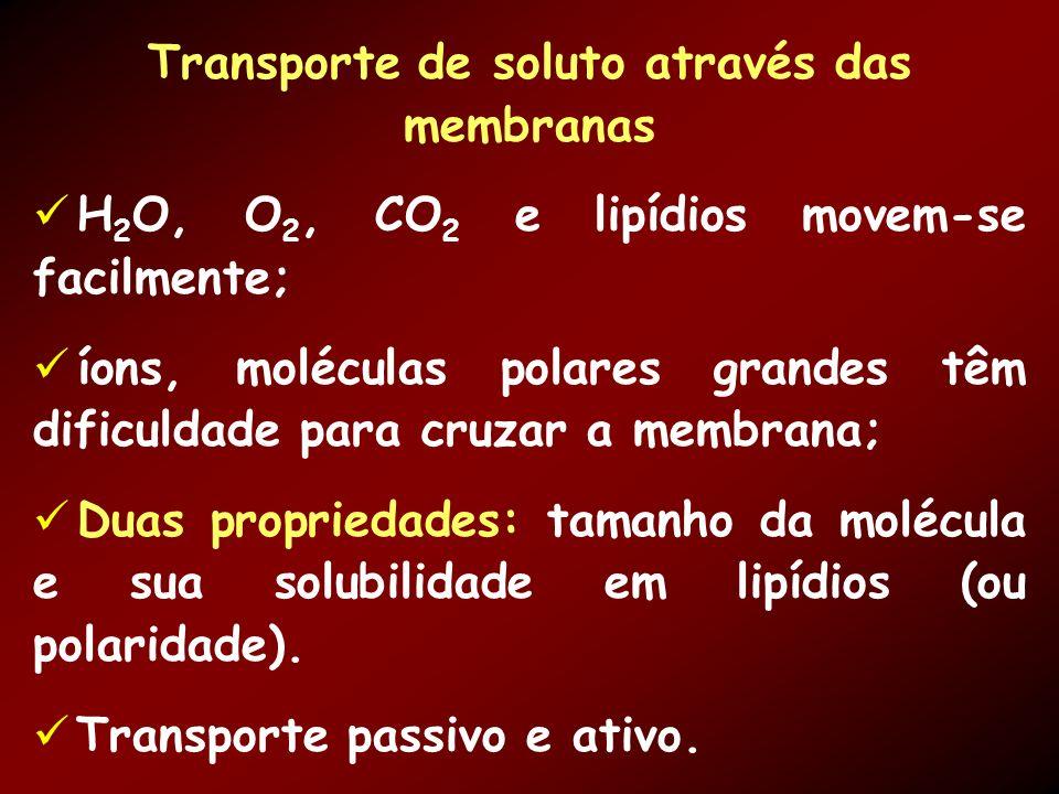 Transporte de soluto através das membranas