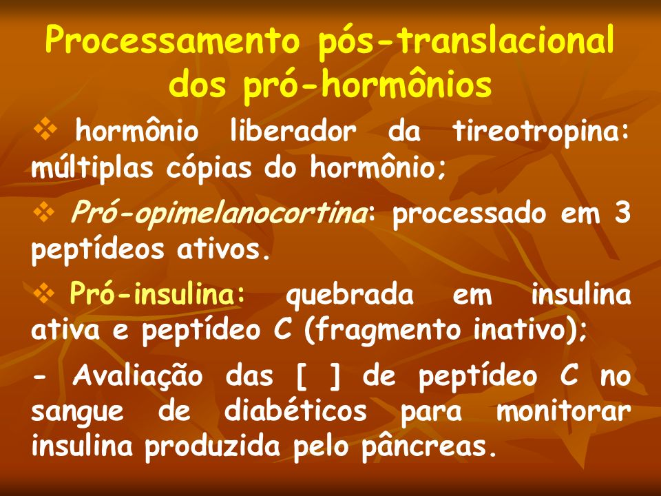 Processamento pós-translacional dos pró-hormônios