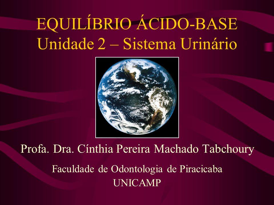 EQUILÍBRIO ÁCIDO-BASE Unidade 2 – Sistema Urinário