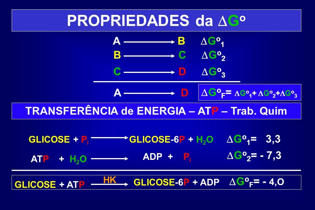 TRANSFERÊNCIA de ENERGIA – ATP – Trab. Quim