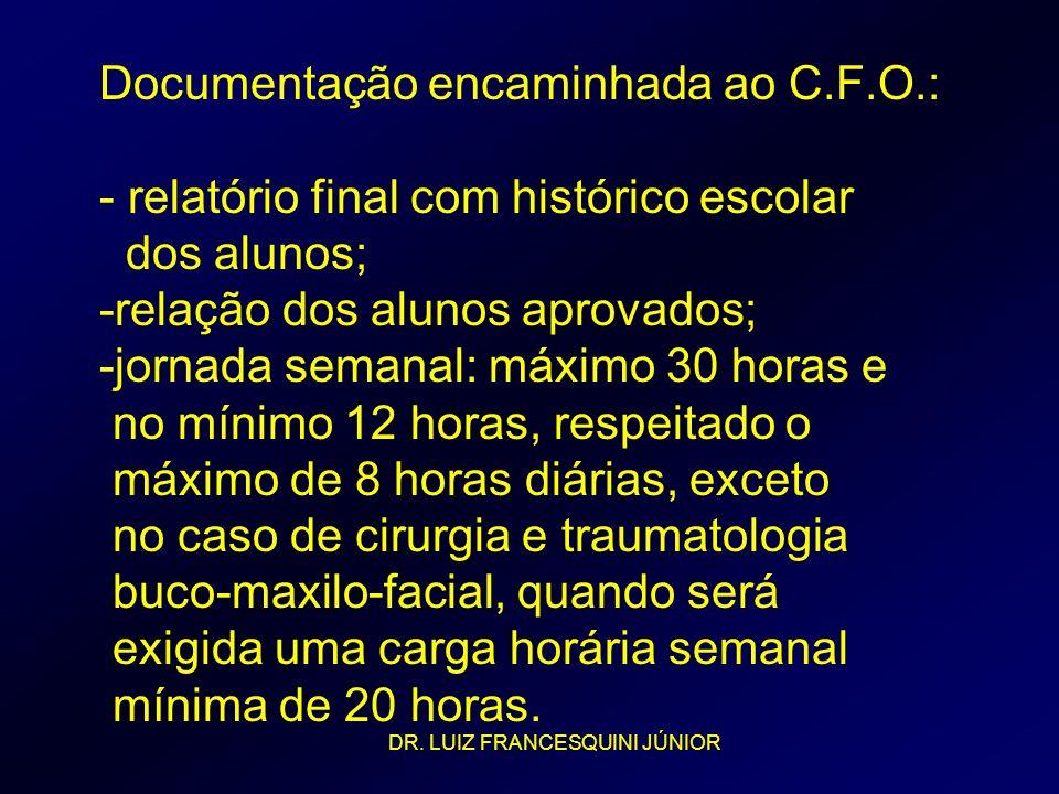 Documentação encaminhada ao C. F. O