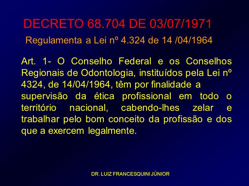 DECRETO 68.704 DE 03/07/1971 Regulamenta a Lei nº 4.324 de 14 /04/1964