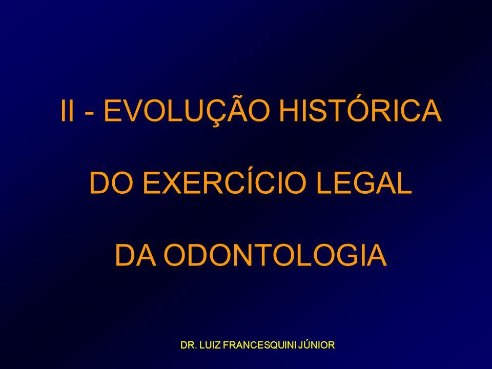 II - EVOLUÇÃO HISTÓRICA