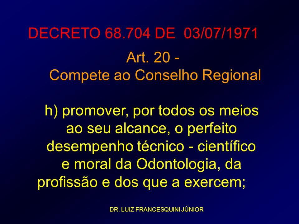 Compete ao Conselho Regional