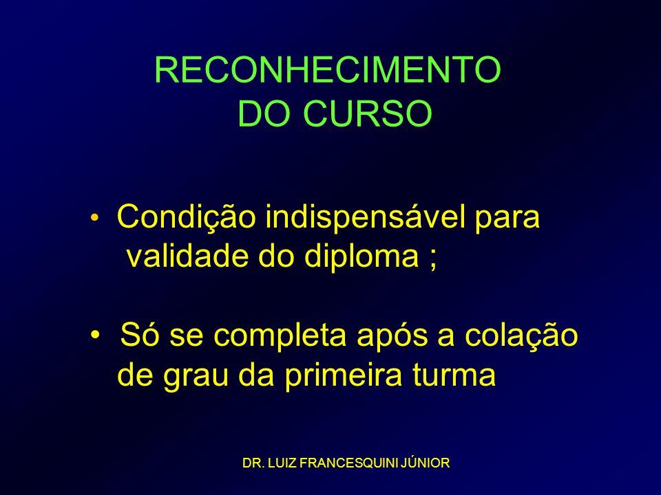 RECONHECIMENTO DO CURSO
